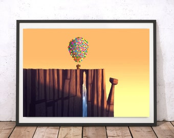 Paradise Falls - Up Pixar Poster Print - Disney Art - Wall Art - (Available In Many Sizes)