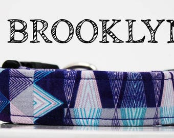 Brooklyn - Purple Aztec Inspired Handmade Collar