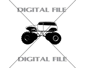 Monster Truck Vector Images Vinyl Decal T-shirt Digital Cutting Files ,Svg File, Ai, Eps, PNG, A2