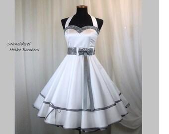 Wedding Dress Wedding Dress Stand-Up Dress 50s Rockabilly Dress Petticoat Dress Petticoat Made to Measure