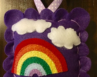 Rainbow Tooth Fairy Pillow. Girl Tooth Fairy Pillow. Tooth Fairy Pillow.  Tooth Fairy Pillow