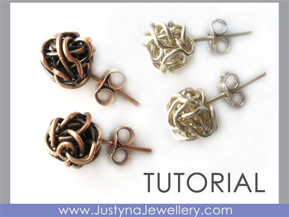 Draht-Ohrringe-Tutorial Wire Wrapping Tutorial Knot Draht