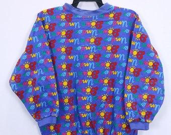 Vintage Ken Done Under Down Fullprint Sweatshirt Small size Made in Australia