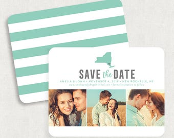 State Save the Dates, New York Save the Dates, Photo Save the Date, Printable Save the Date, State Save the Date Magnets, DIY Save the Date