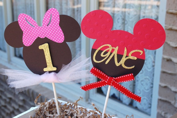Mickey Mouse Minnie Birthday Party Cake Topper Baby Shower