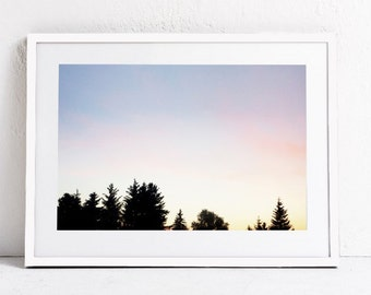 Forest PRINTABLE ART Forest Print, Forest Photography Print, Forest Art, Printable Landscape Photography, Downloadable Print, Pastel Print