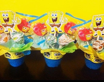 10 Mini Lollipop Favor (any Theme) Nick,Disney, Sesame Street,yo Gabba Gabba,etc.