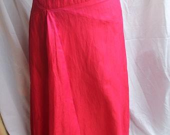 Tonic pink red linen mix skirt REF 620