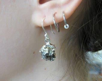 Hand Made Meteorite Earrings