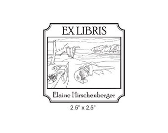 The Persistence of Memory by Salvadore Dali Personalized Library Rubber Stamp  I20