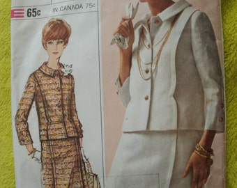 Vintage Simplicity 6406 Sewing Pattern Size 12 Bust 32 Designer Fashion