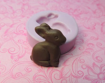 Easter Bunny Mold Tiny Chocolate Easter Rabbit Bunny Mold TINY Miniature Clay Resin DIY Charms Mould