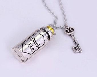 Drink Me Bottle Necklace