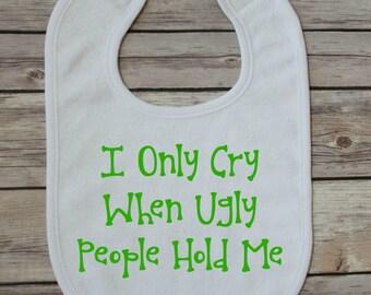 baby bib - funny baby bib - personalized baby bib - custom baby bib - unique baby gift - baby shower gift - handmade baby bib - baby gift