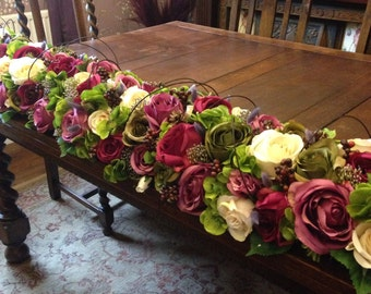 Artificial Rustic Flower Top Table Wedding Decoration