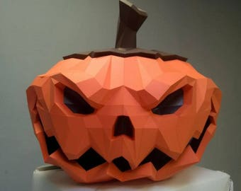 Halloween Pumpkin DIY Papercraft.