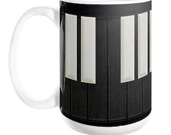 Harpsichord / Clavichord Keyboard Coffee Mug, 11oz or 15oz