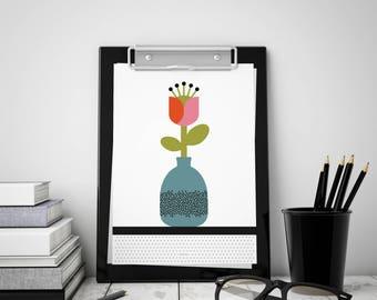 poster 15 x 21 cm - pop Fleur collection