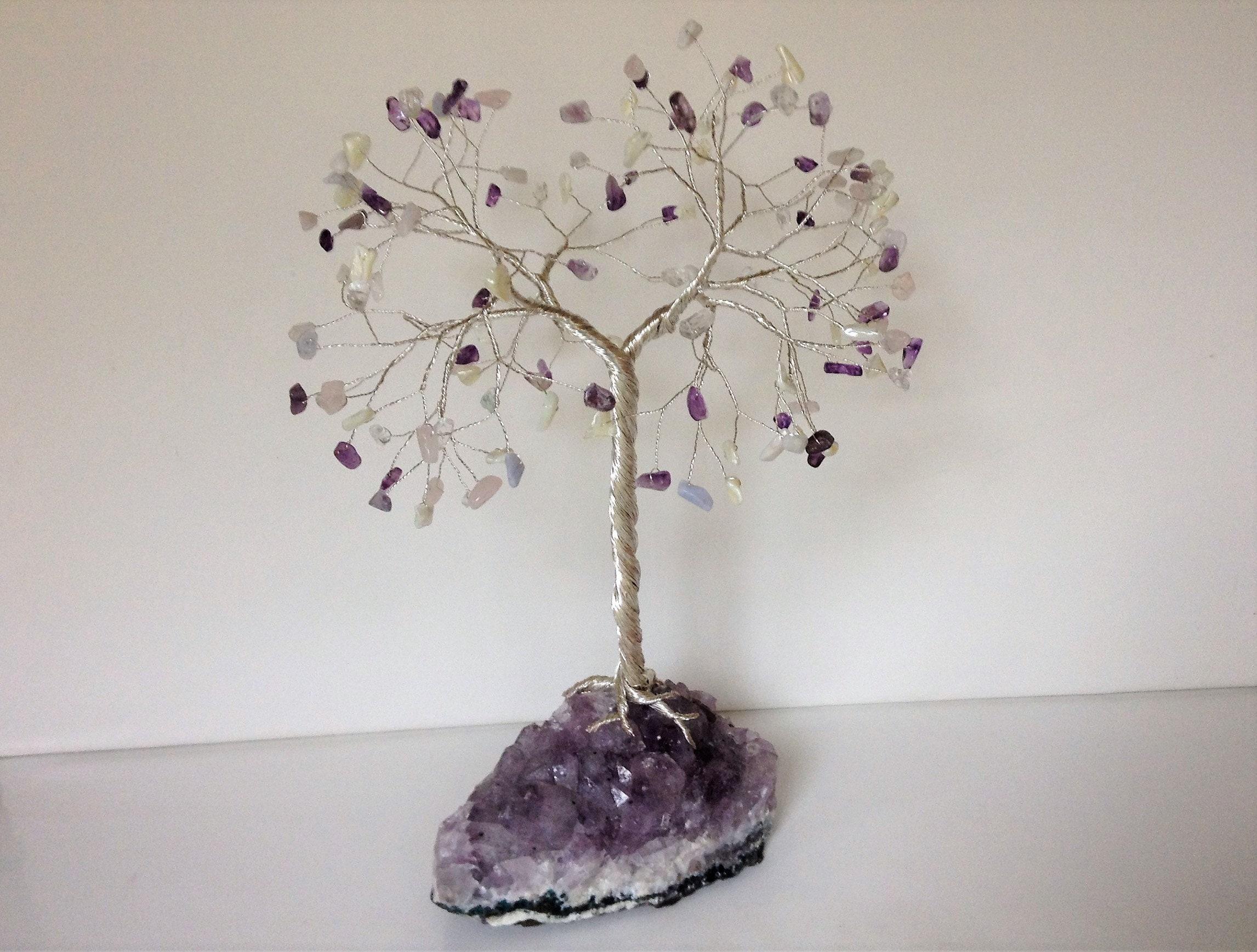 Winter Baum-Skulptur-Extra große Edelstein-Baum. Lila Baum