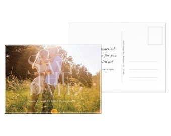 Save the Date Postcard Template Photo Save the Date Cards Download