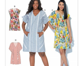 Dress sewing pattern and tunic by McCall's M7712 any size