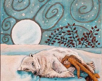 Inspiration GREETINGS CARD When Sleeping Women Wake, Mountains Move Series No 1 by Liz Shewan