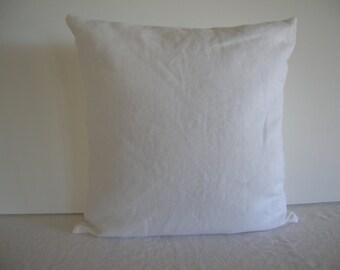 White Linen 18x18 Pillow Cover