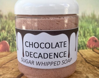 Chocolate Decadence Sugar Whipped Soap / Easter