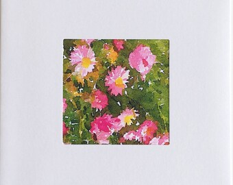 Greeting Card/Pink Everlasting Daisies