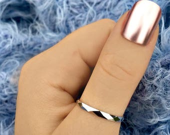 Simplicity Hammered Sterling Silver Thumb Ring