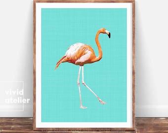 Flamingo Print, Tropical Print, Most Sold, Flamingo Poster, Tropical Nursery Decor, Tropical Bird, Flamingo Printable, Flamingo Wall Art,