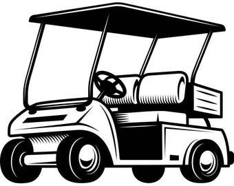 golf cart clip art etsy rh etsy com golf cart clip art cartoons golf cart clip art cartoon