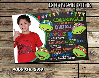 Ninja Turtle Invitation,TMNT Birthday Invitation,Ninja Turtle Birthday,Ninja Turtle Invite,Ninja Turtle Printable,Birthday Invitation