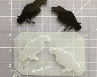 ON SALE New! Creepy crows 2 set flexible plastic resin mold