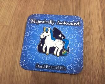 Enamel Pin Majestically Awkward Unicorn