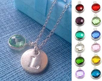 August birthstone - Initial necklace - birthstone necklace - peridot necklace - August birthday - birthstone jewelry - initial jewelry