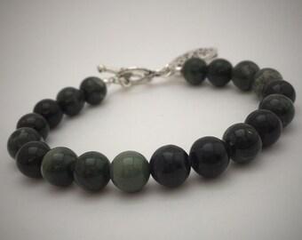 Green Rhodonite Essential Oil Diffusing Bracelet