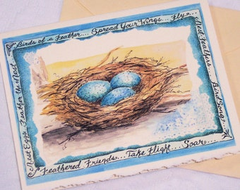 NEST  EGGS Notecards/Set of Six