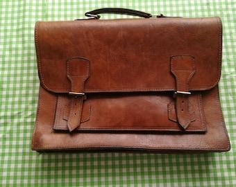 leather brief case, document folder, Attache Case Drs Bag Retro Vintage Cowhide Bag Old Case Vintage Luggage Vintage case.