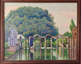 Tree of TIME. OIL, CANVAS, picture, pointillism, neo- impressionism, art, artist, Igor Tomaily