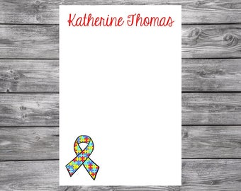 Autism Awareness- Personalized Notepad- 4x6