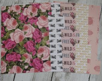 Rose Garden - Floral Dividers - Planner Dividers - A5 Dividers - Divider Set