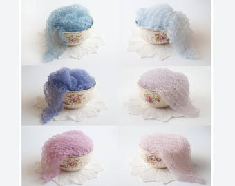 Newborn Props - Blue - Mohair Wrap Newborn - Purple - Newborn Wrap - Pink - Newborn Photo Props - Twin Photo Props - Photography Props