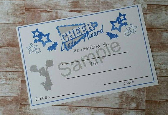 Cheerleading cheer leader award certificate cheer cheerleading cheer leader award certificate cheer award instant download printable item printable certificate athletic award yadclub Images