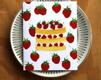 Strawberry Shortcake Birthday Card