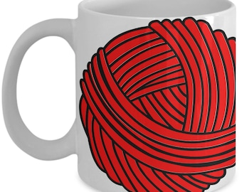 Yarn Novelty Coffee Mug for Knitters and Crochet Gifts