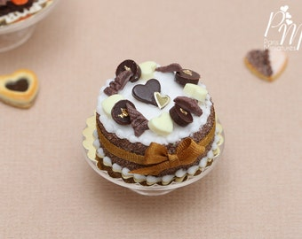 MTO-French Chocolate Cake - Miniature Food in 12th Scale for Dollhouse