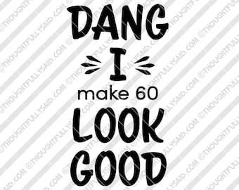 60th Birthday Svg Etsy