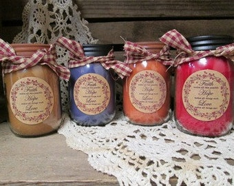 16 ounce Soy Blend Jar Candle
