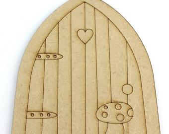 2D Single Piece Laser Cut / engraved Fairy / Goblin Door
